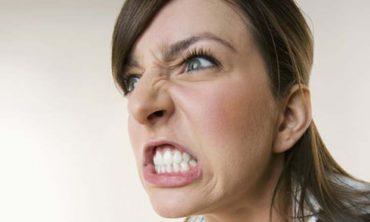 An angry woman